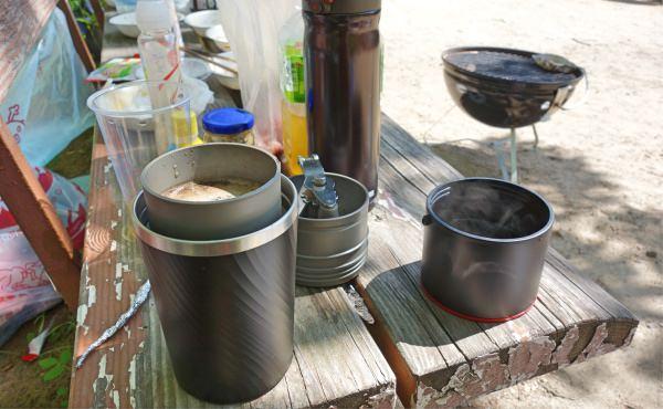 BBQで挽きたてコーヒー
