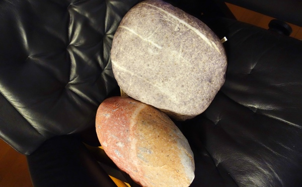 石のプリントクッション
